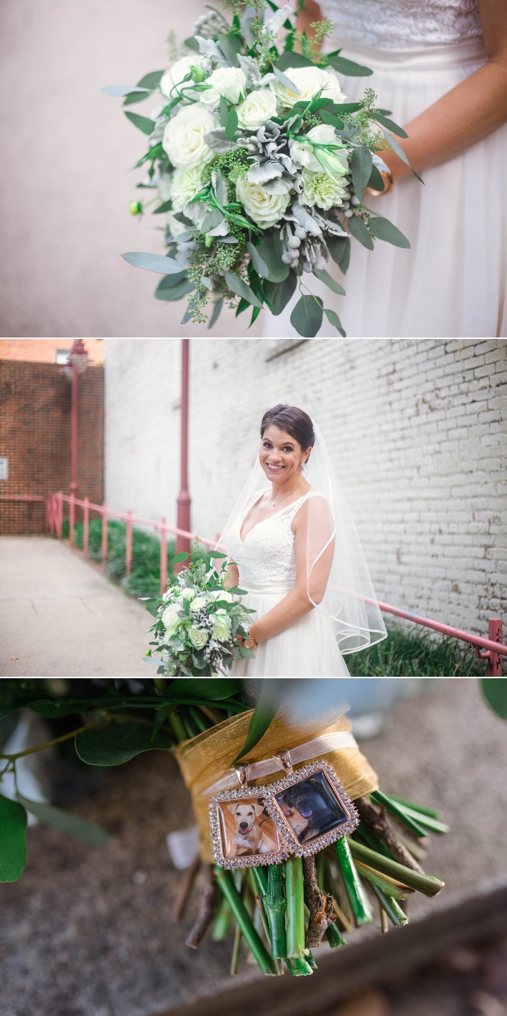 Portraits of Bride Downtown Raleigh - Clare + Wallace - The Jiddy Space - Raleigh North Carolina Wedding Photographer