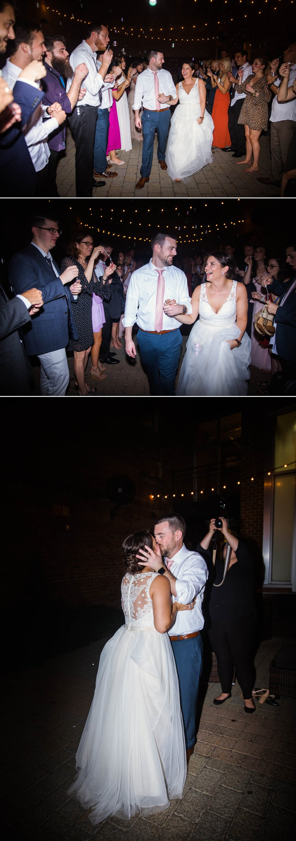 Exit - Reception - Clare + Wallace - The Jiddy Space - Raleigh North Carolina Wedding Photographer