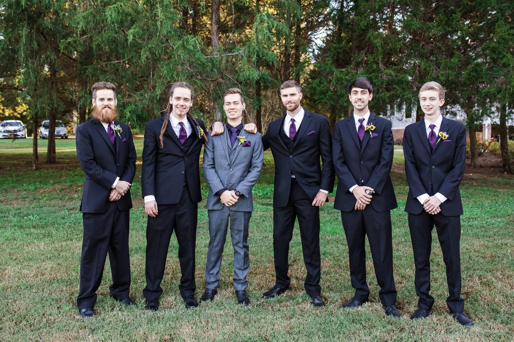 Groomsmen Portraits - Brittany + Greg - The Groomes Place - Charlotte, NC Wedding Photographer