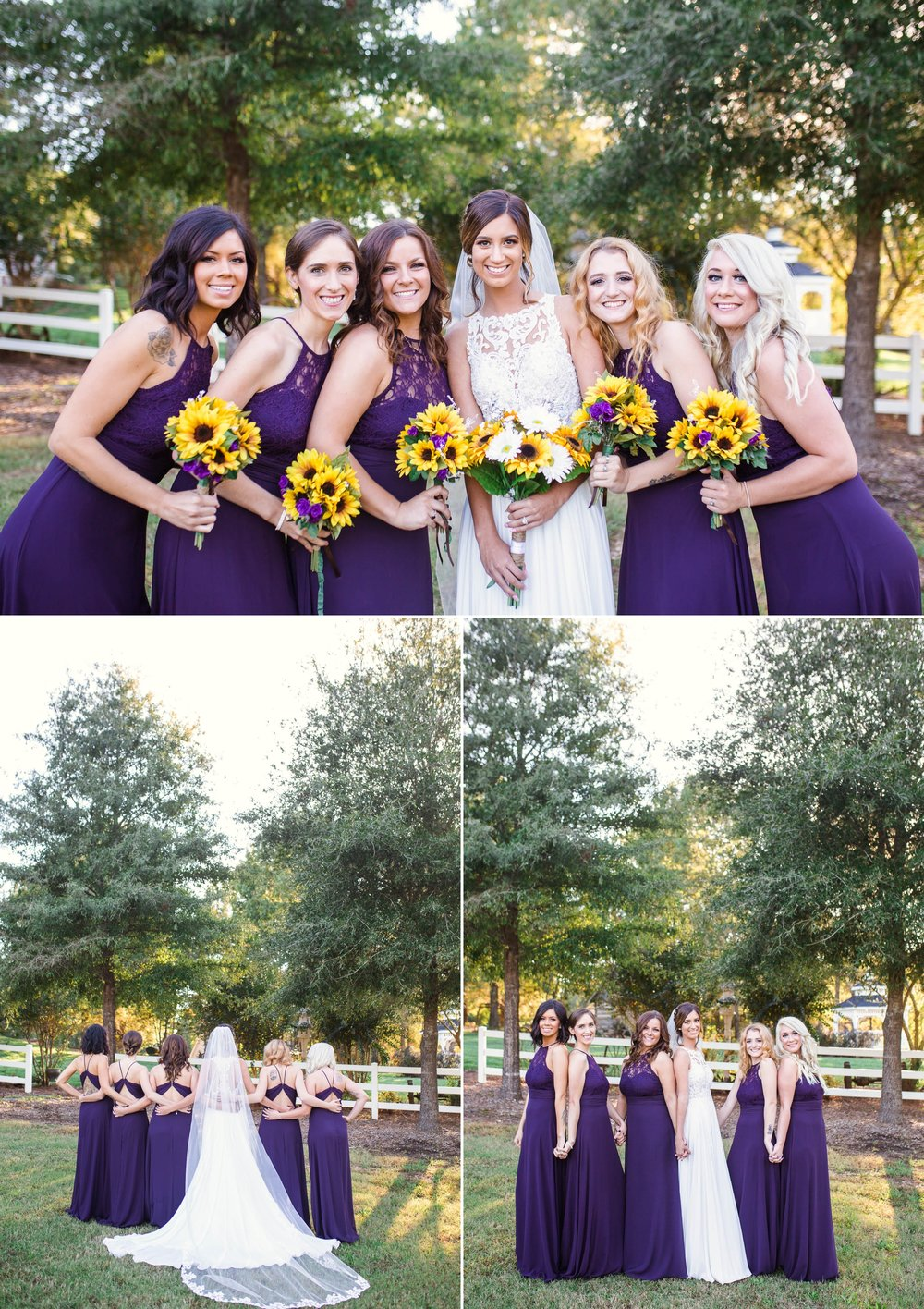 Bridesmaids Portraits - Brittany + Greg - The Groomes Place - Charlotte, NC Wedding Photographer