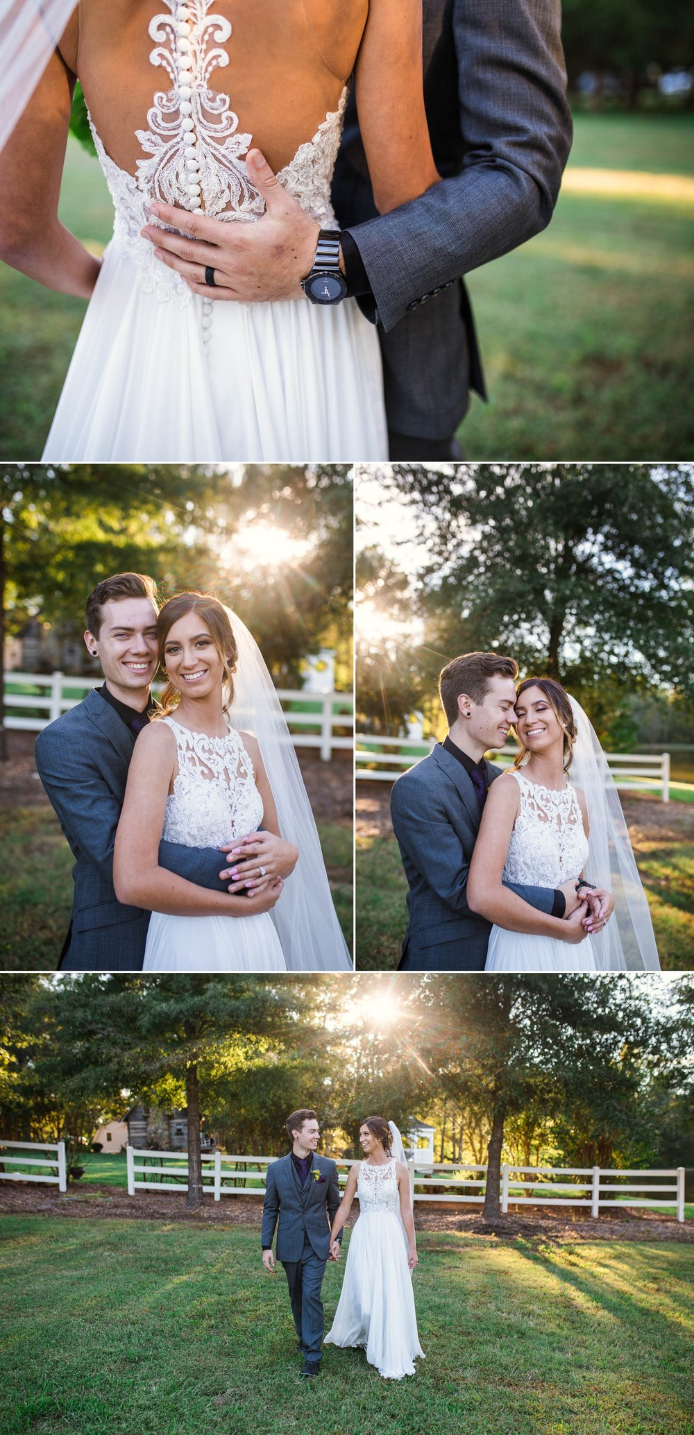 Portraits of Bride and Groom - Brittany + Greg - The Groomes Place - Charlotte, NC Wedding Photographer
