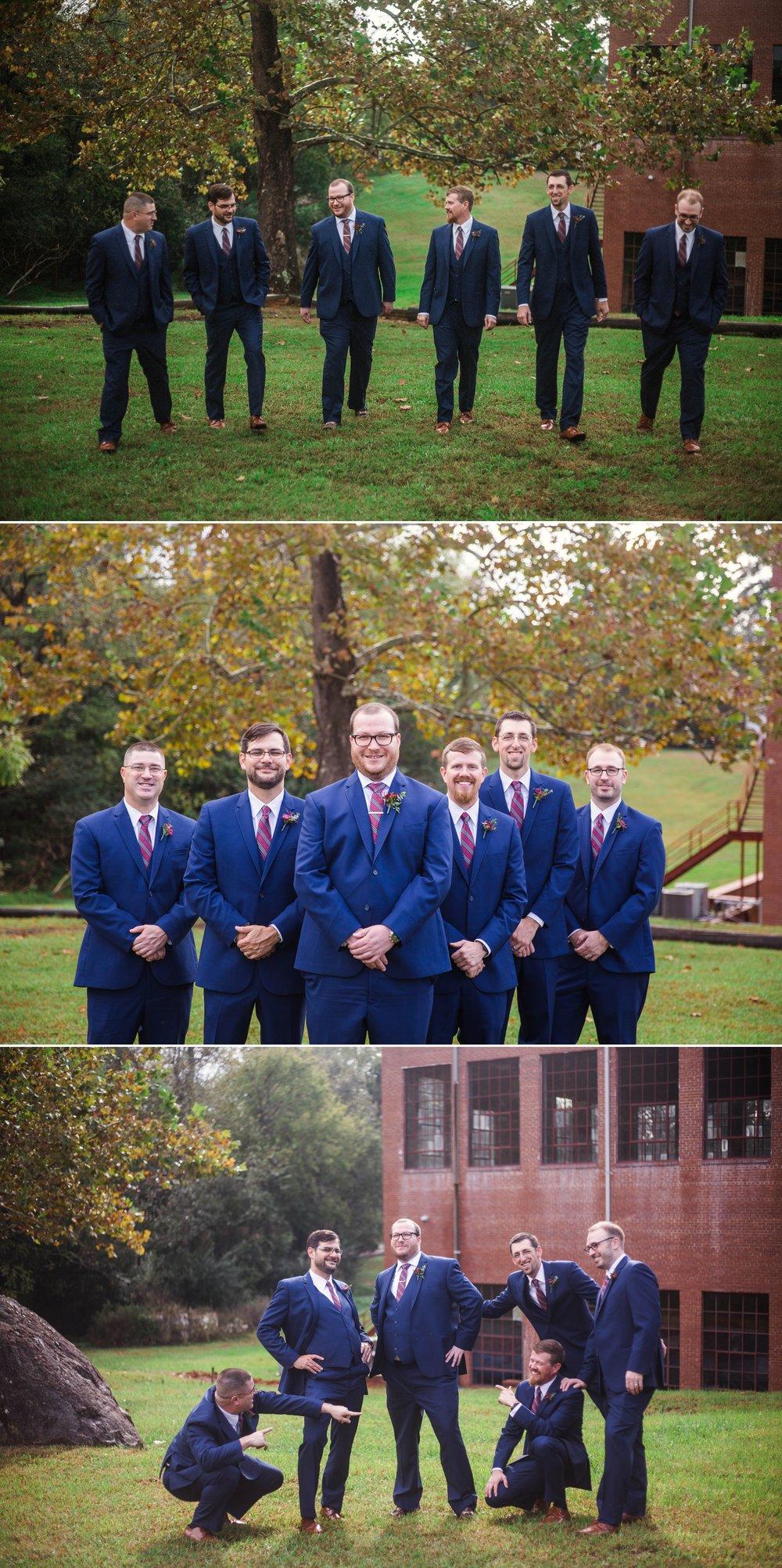 Groomsmen Portraits - Brittany + Douglas - Forest Hall at Chatham Mills in Pittsboro, NC - Raleigh North Carolina Wedding Photographer