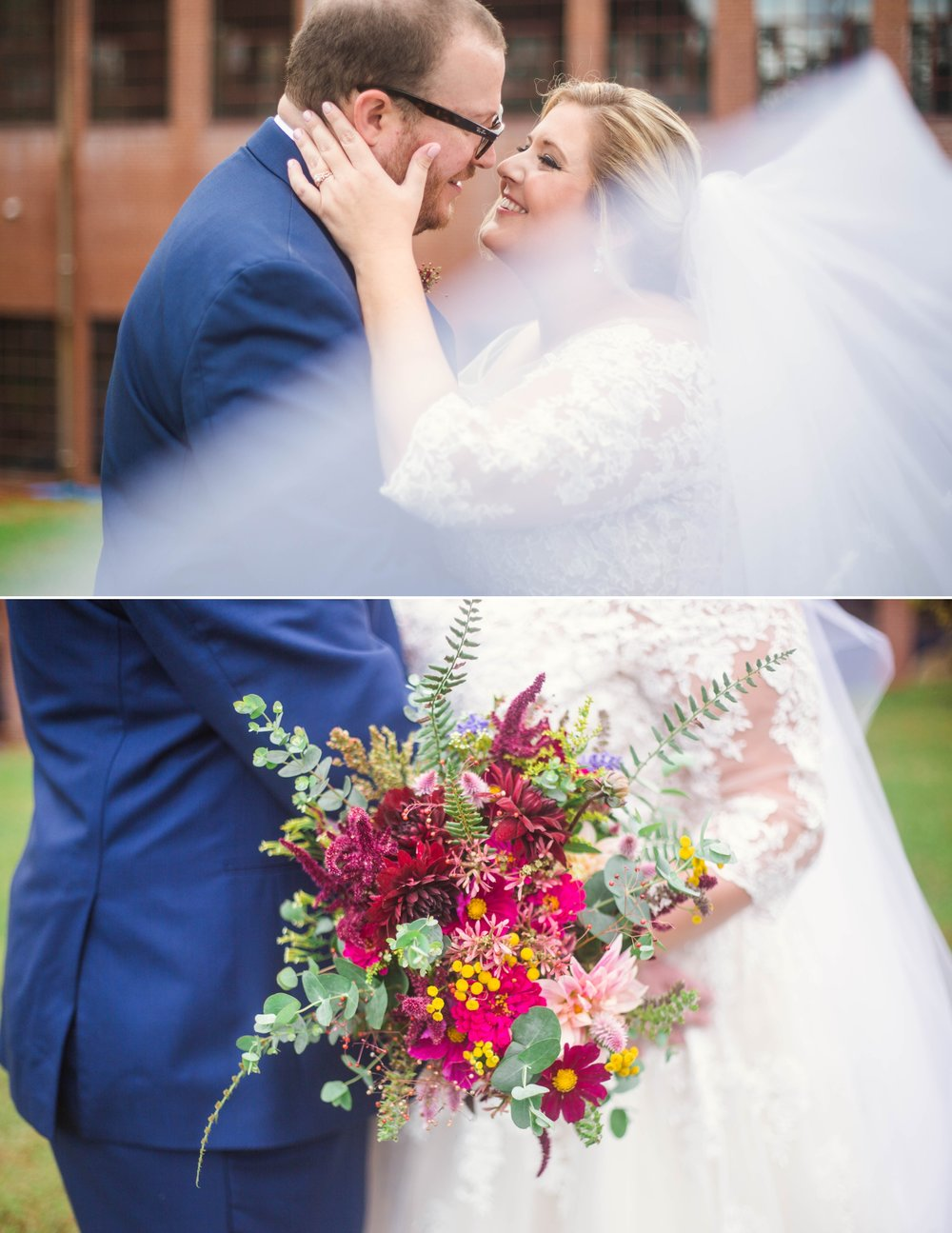Veil shot - Brittany + Douglas - Forest Hall at Chatham Mills in Pittsboro, NC - Raleigh North Carolina Wedding Photographer
