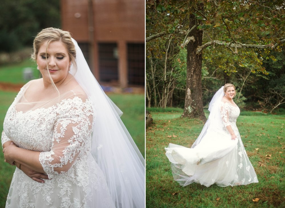 Bridal Portraits - Plus Size Bride - Brittany + Douglas - Forest Hall at Chatham Mills in Pittsboro, NC - Raleigh North Carolina Wedding Photographer