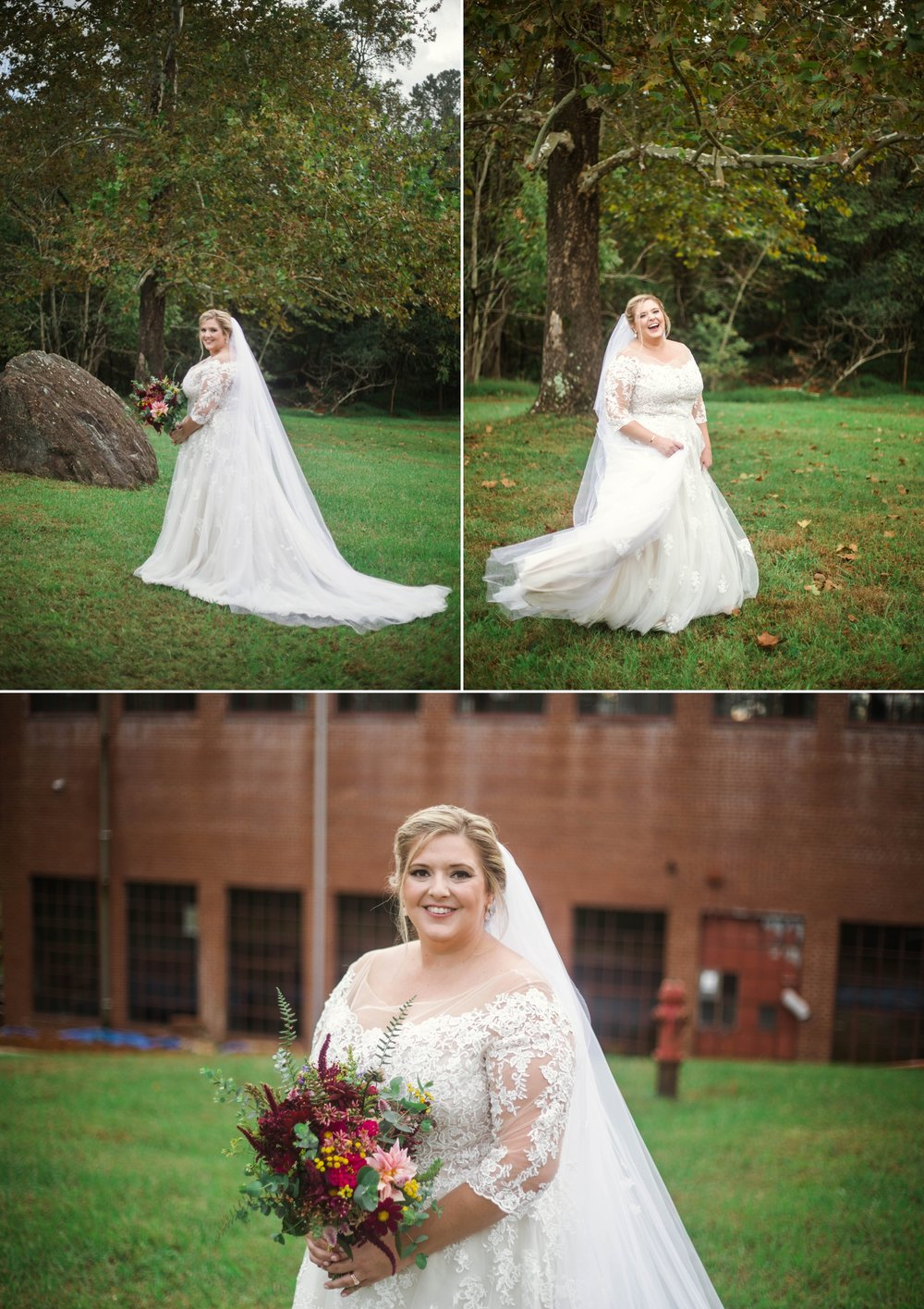 Bridal Portraits - Brittany + Douglas - Forest Hall at Chatham Mills in Pittsboro, NC - Raleigh North Carolina Wedding Photographer