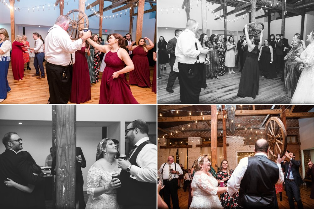 Reception - Brittany + Douglas - Forest Hall at Chatham Mills in Pittsboro, NC - Raleigh North Carolina Wedding Photographer