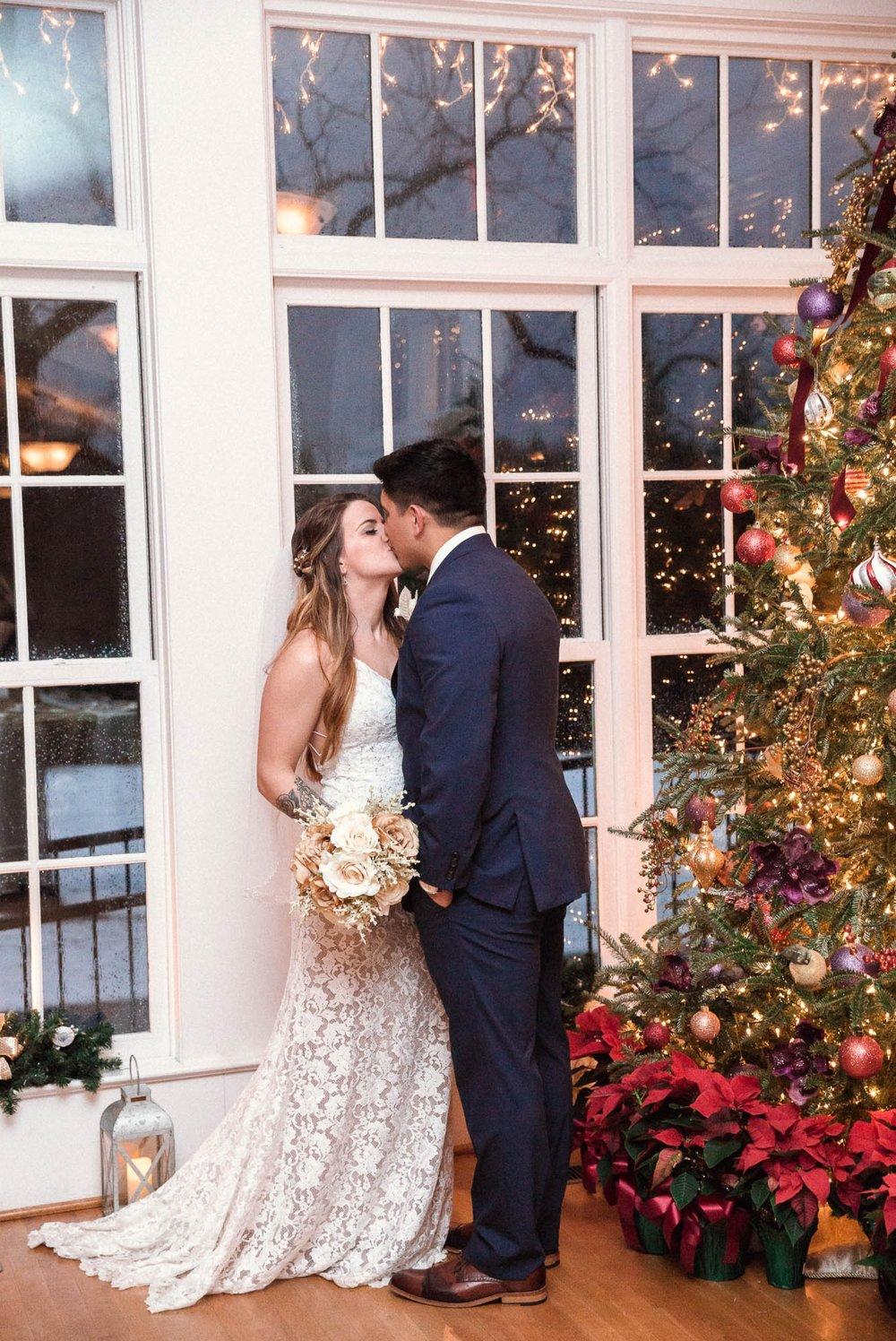 Jessica + Brandon - Christmas Snowy Winter Wedding at the Rand Bryan House in Garner, NC - Raleigh North Carolina Wedding Photographer 27.jpg