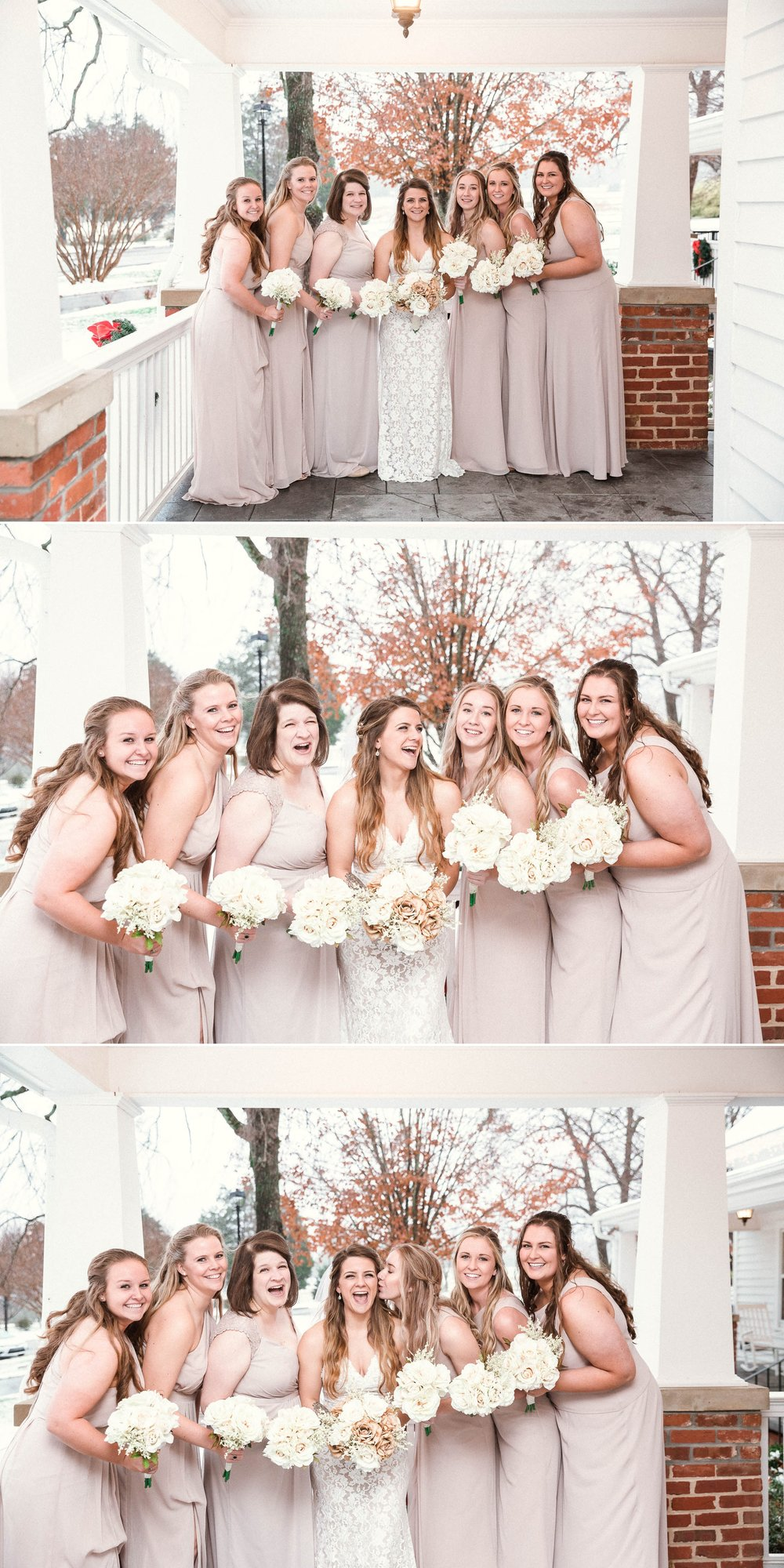 Bridesmaids Portraits - Jessica + Brandon - Snowy Winter Wedding at the Rand Bryan House in Garner, NC - Raleigh North Carolina Wedding Photographer