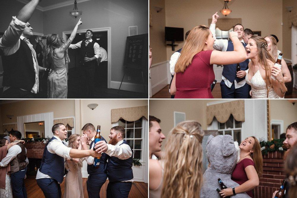 RECEPTION - Jessica + Brandon - Snowy Winter Wedding at the Rand Bryan House in Garner, NC - Raleigh North Carolina Wedding Photographer