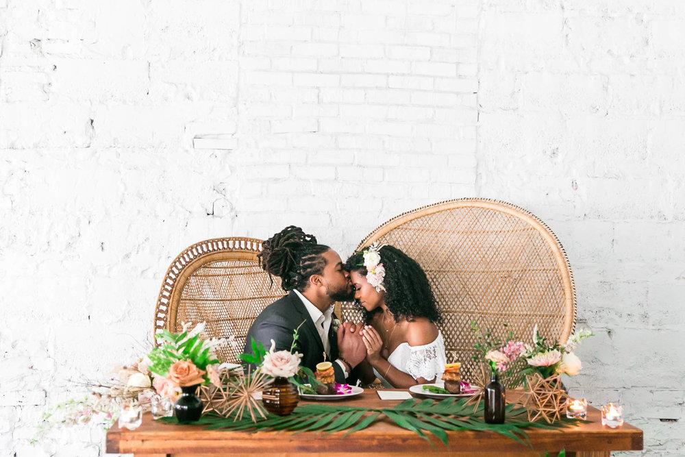 Ross + Victoria  Oasis Wedding Inspiration