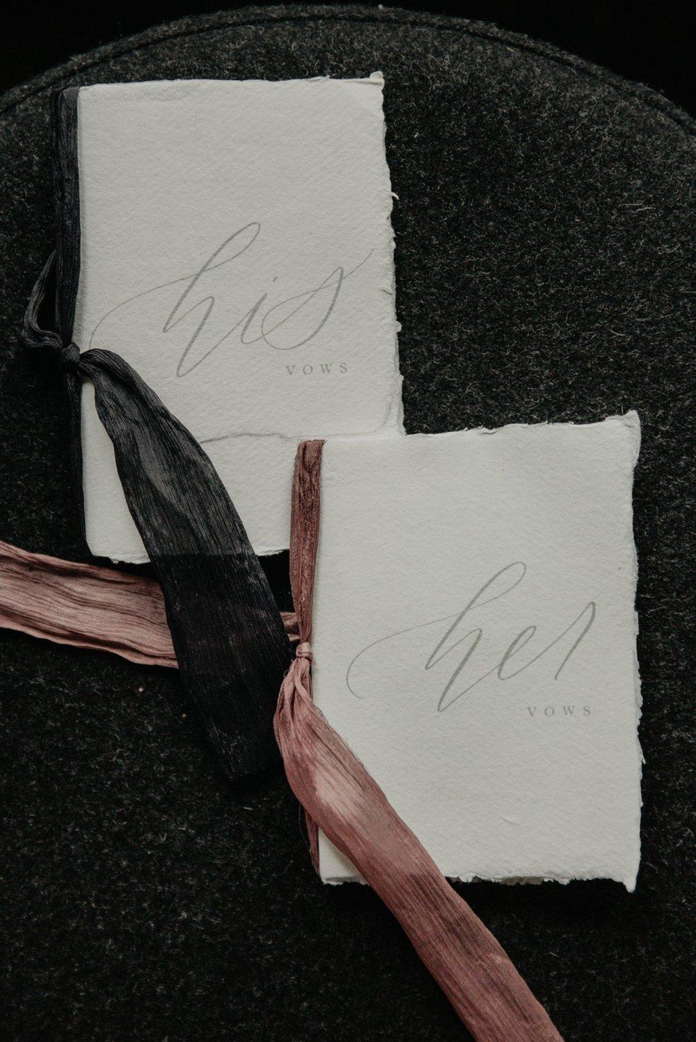 Detail shot of the wedding vow books - Matt Smarsh and Johanna Dye - Raleigh North Carolina Urban Edgy Downtown Wedding