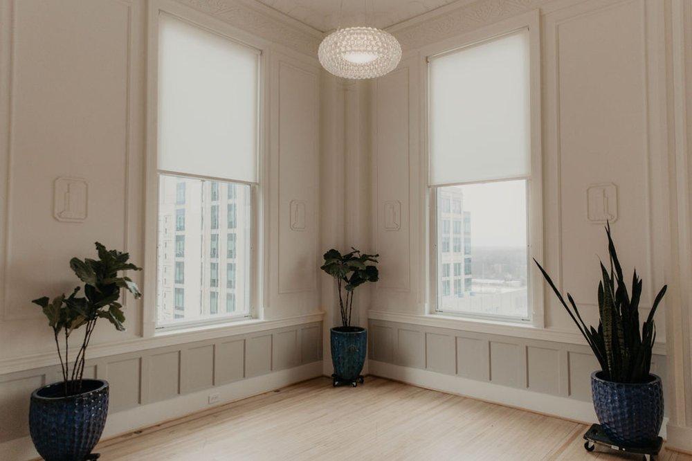The canon room - Matt Smarsh and Johanna Dye - suites by the black tux - Raleigh North Carolina Urban Edgy Downtown Wedding - suits by the black tux