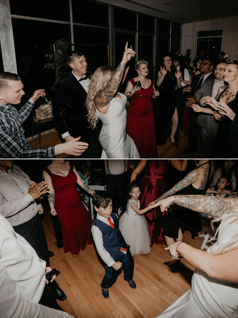 Reception and Dancing - Matt Smarsh and Johanna Dye - suites by the black tux - Raleigh North Carolina Urban Downtown Wedding