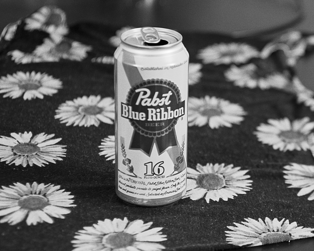 PBR Tallboy, $3 plus tip.