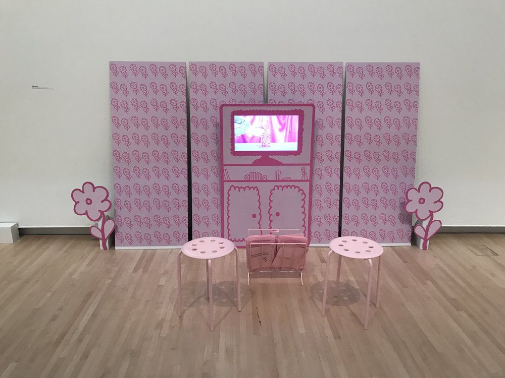 for the nice girls in shows by bad men (installation view)