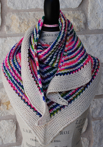"""""""The Great Divide"""" Shawl"""