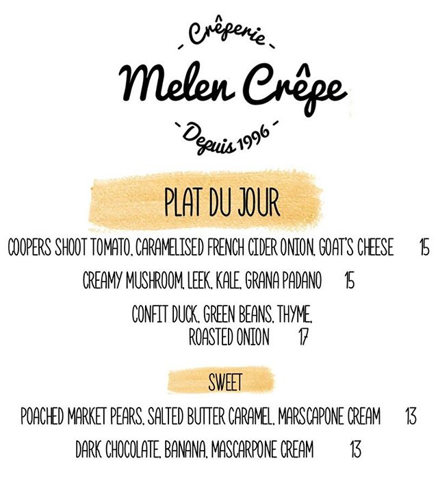 We look forward to seeing you tonight! 💫 @melencrepe