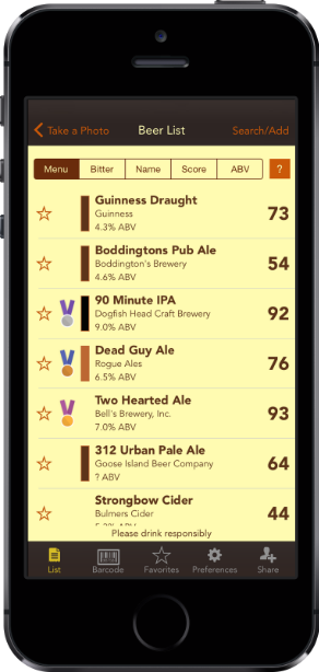 Get beer ratings and recommendations!