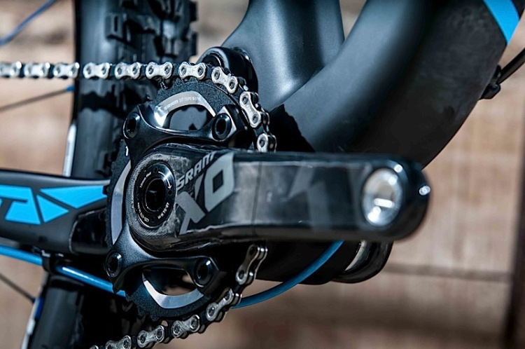 Suspension kinematics designed around the XX1/X01 drivetrain
