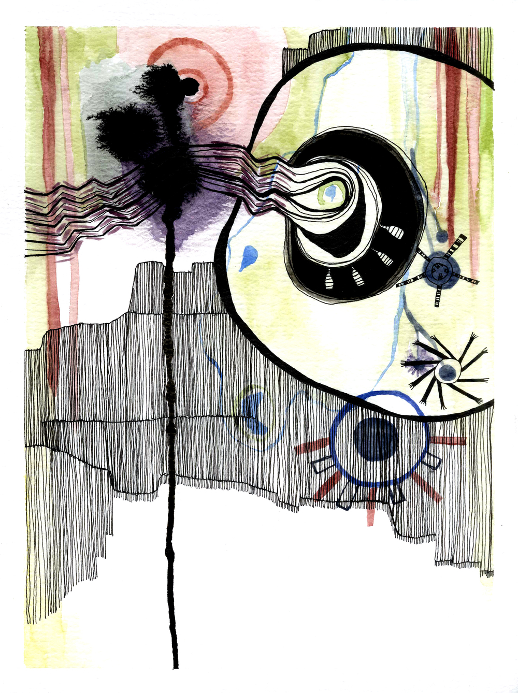ink & watercolor / spring 2009