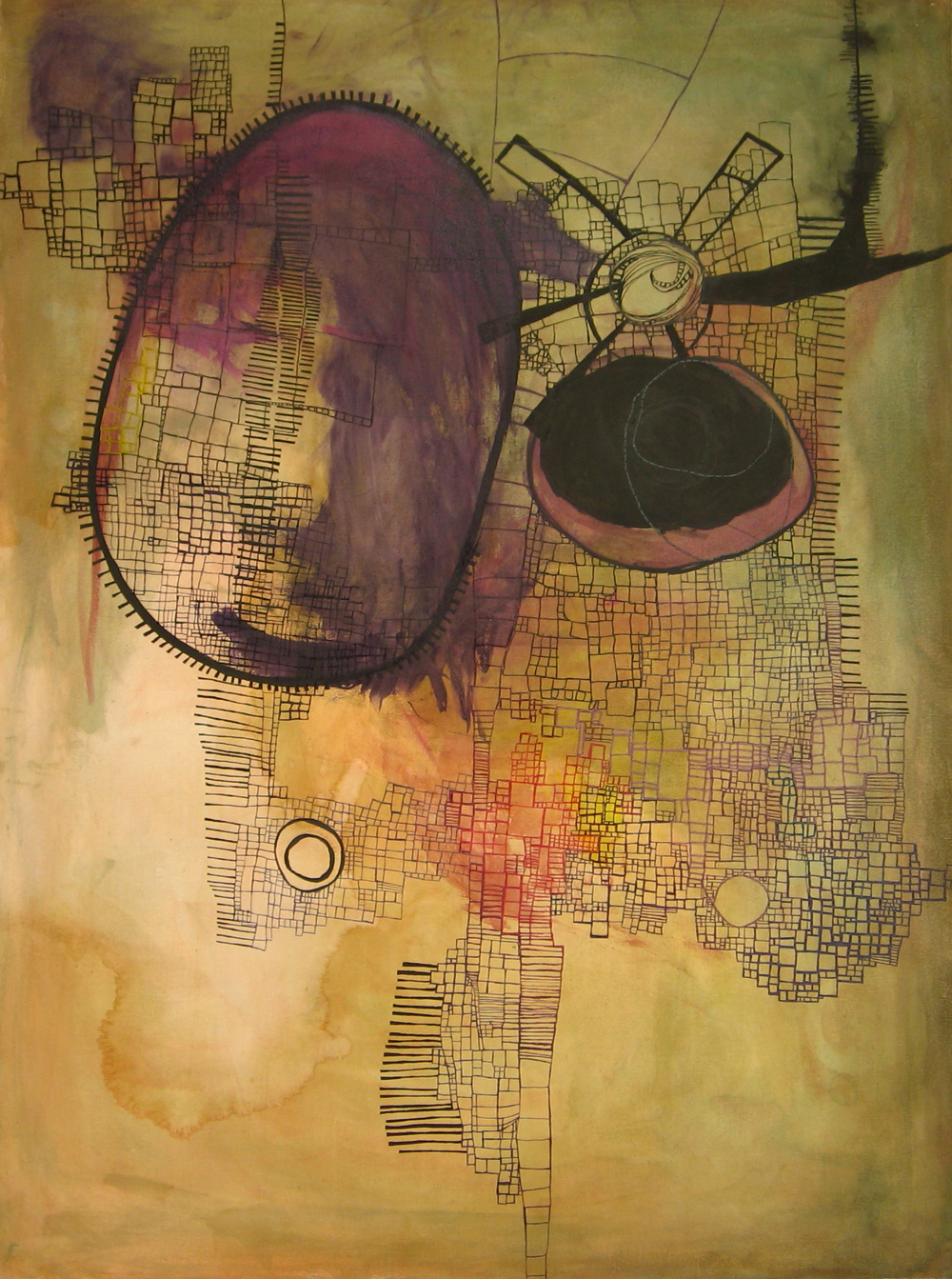embroidery, ink & acrylic on canvas / 2009-spring 2012