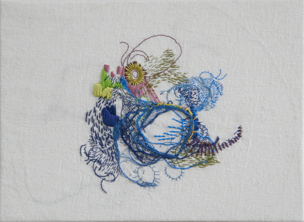 embroidery on cotton / spring 2013