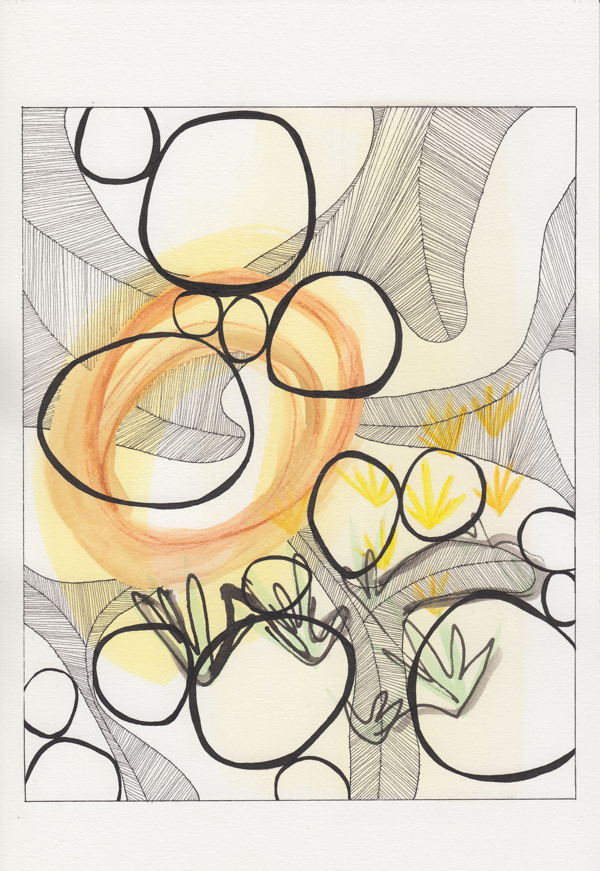 ink & watercolor / spring 2015