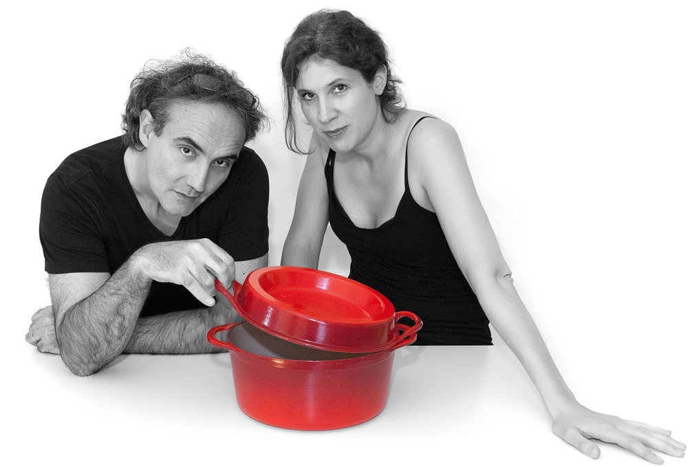 French mystery writers Noël Balen and Vanessa Barrot.