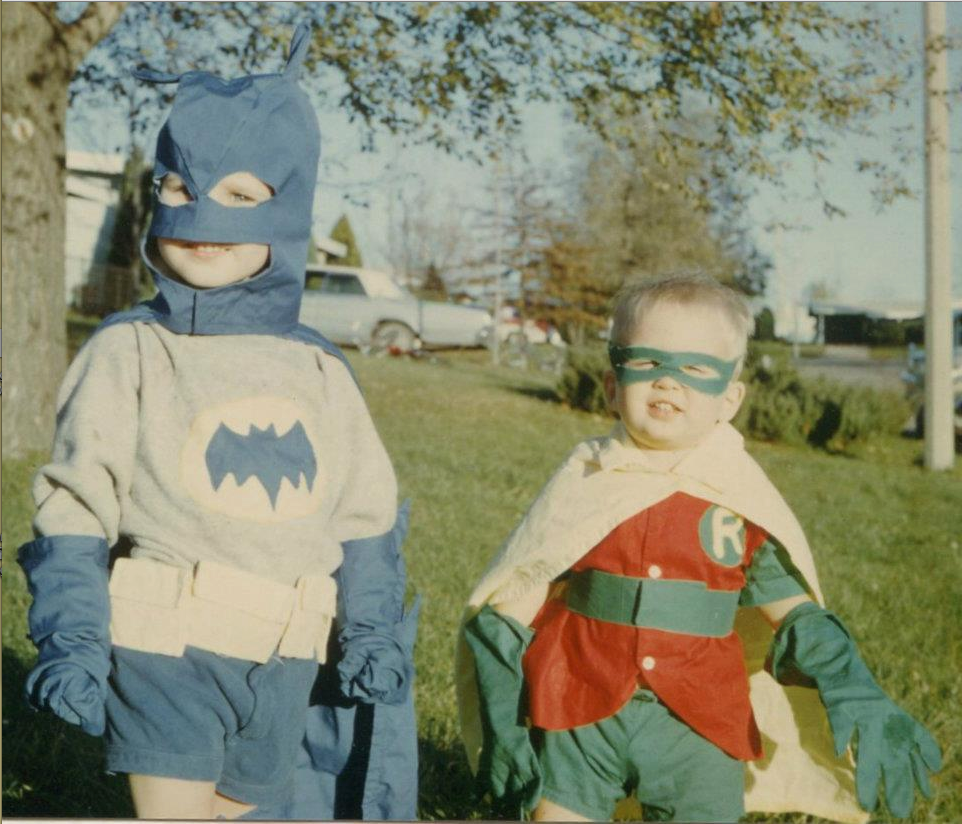 Fuck yeah!    iwasanawesomerkid :     You wore costumes… and not just on Halloween.    Between nap time and snack time you were the swingset super hero who protected the playground from bad guys. There wasn't an imaginary crime you couldn't stop, as long as it happened before 8pm. Each day you donned a new set of super powers and saved the world before mom could cut the crust off your lunch.    Now you wear a business costume with a half windsor cape. Each day you suffocate under the constraint of conformity and anxiously await October 31st so you can live like an awesome kid again.    Obviously you can't dress up everyday, but who says you can't wear a Superman costume under that suit and pretend again.