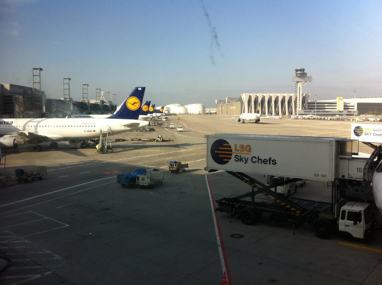 Frankfurt. Departure area.