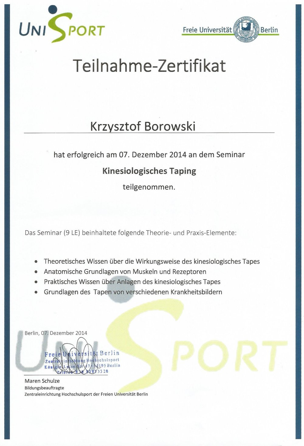 About Christoph — Training & Faszienarbeit