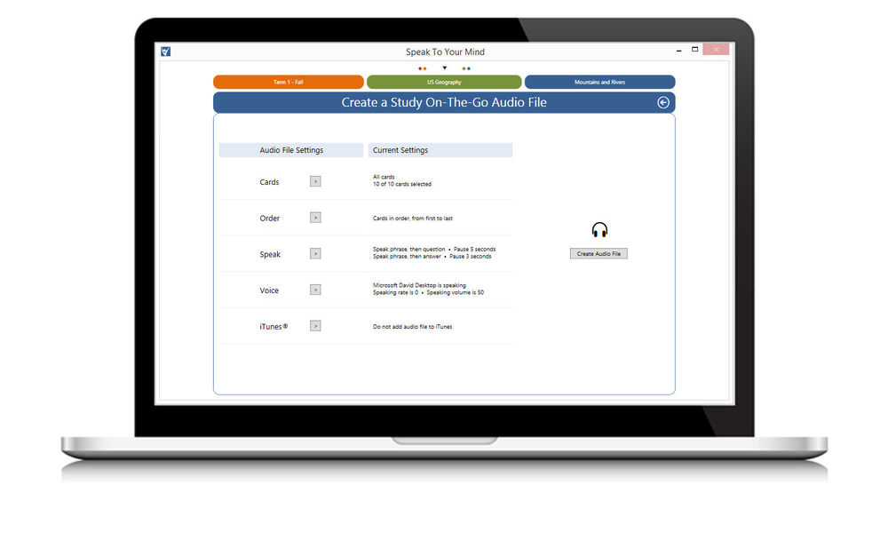 create your own flashcard custom study on-the-go digital flashcard audio files.