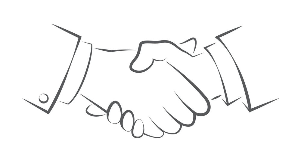 Handshake symbolizing SpeakToYourMind flashcard app is trustworthy