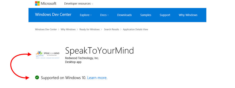 speaktoyourmind flashcard app is compatible with and supported on windows 10