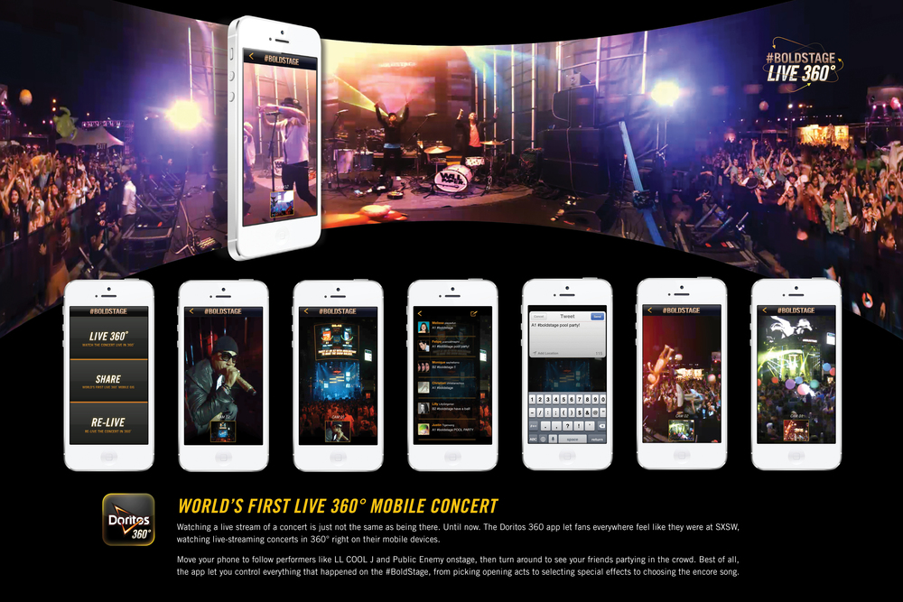 Watching a live stream of a concert is never the same as being there. Until  now. Two 360° live cameras put fans on stage with performers like LL COOL J  and ...
