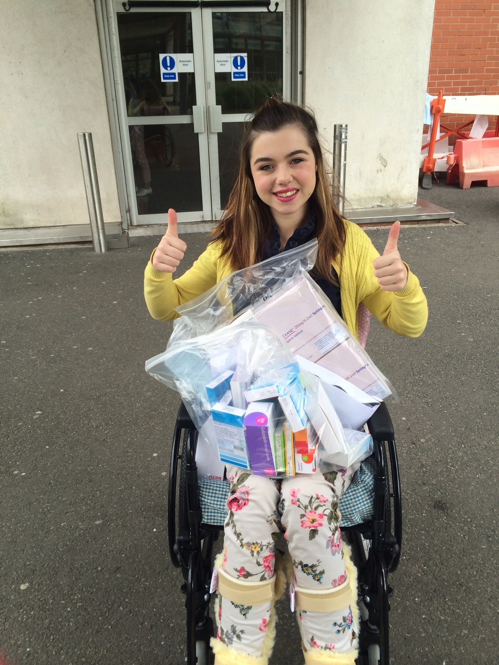 Chloe's discharge from hospital after a nearly seven month stay.