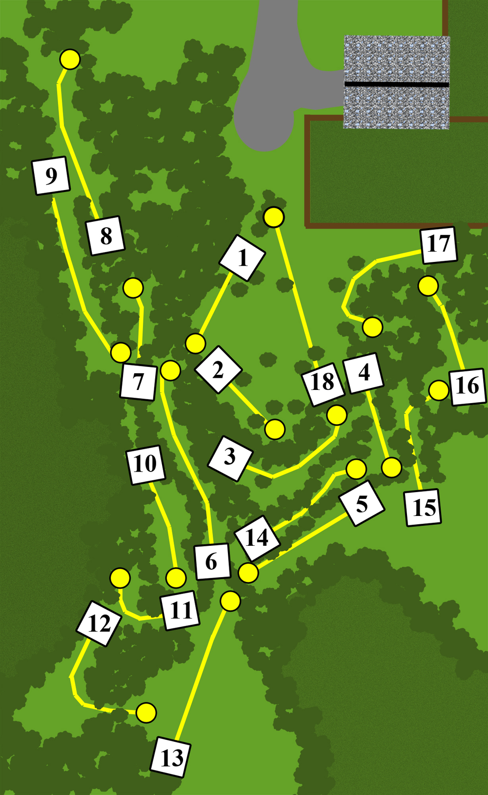 Map of Thornfield Course