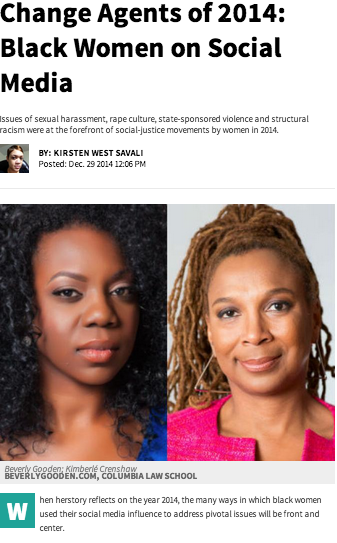 """Change Agents of 2014: Black Women on Social Media"" by Kirsten West Savali"