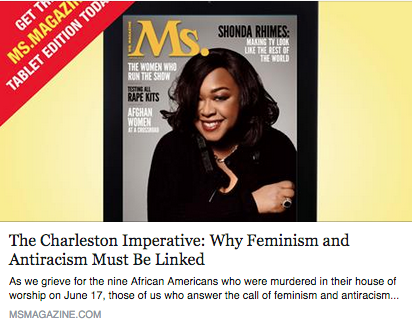"""thE cHARLESTON IMPERATIVE,"" MS MAGAZINE BLOG"