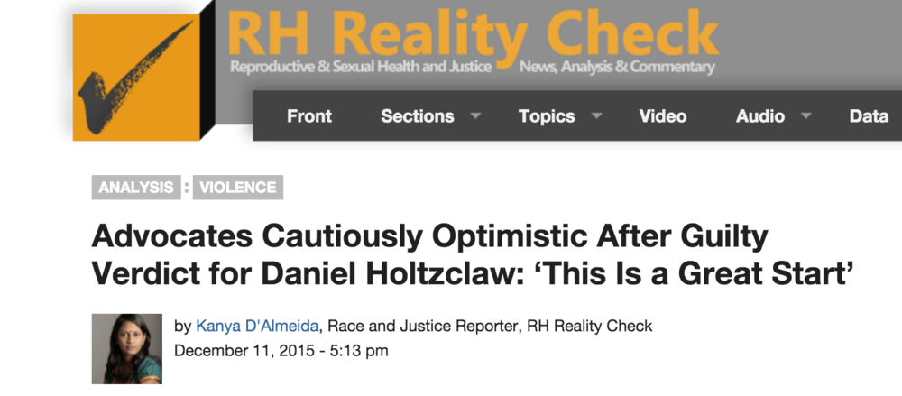 Advocates Cautiously Optimistic After Guilty Verdict for Daniel Holtzclaw, RHRealityCheck, 12/11/15.