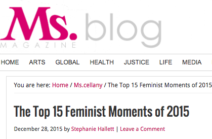 The top 15 feminist moments of 2015, ms. magazine, 12/28/15