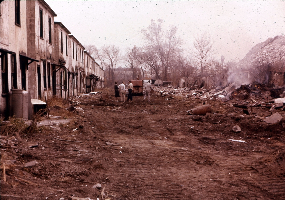 Demolition of Back Street, ca. 1960s.   Courtesy of Salvatore Boccuti.