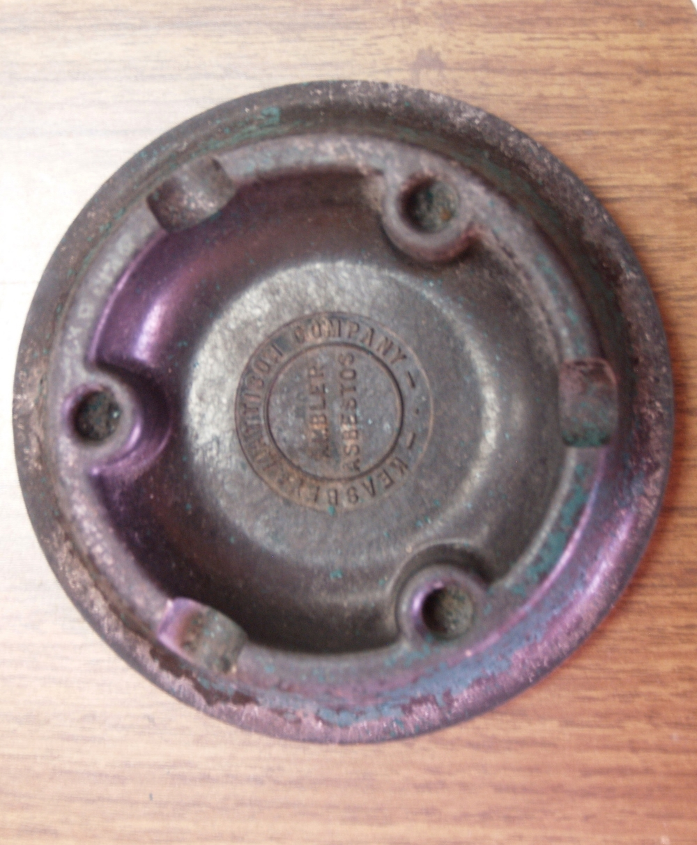 Keasbey and Mattison ashtray, date unknown.   Wissahickon Valley Historical Society.