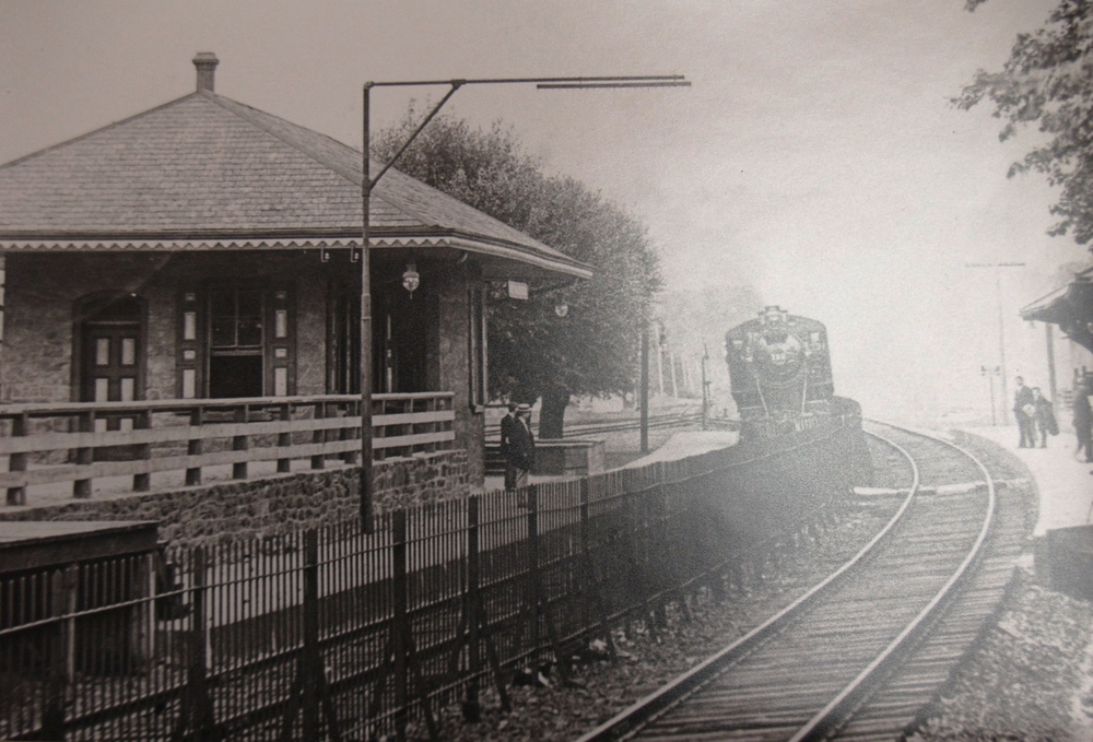 Ambler train station, early 1900s.   Newton Howard Photograph Collection, Historical Society of Montgomery County.
