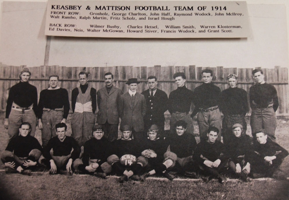 Keasbey and Mattison football team, 1914.   Newton Howard Photograph Collection, Historical Society of Montgomery County.
