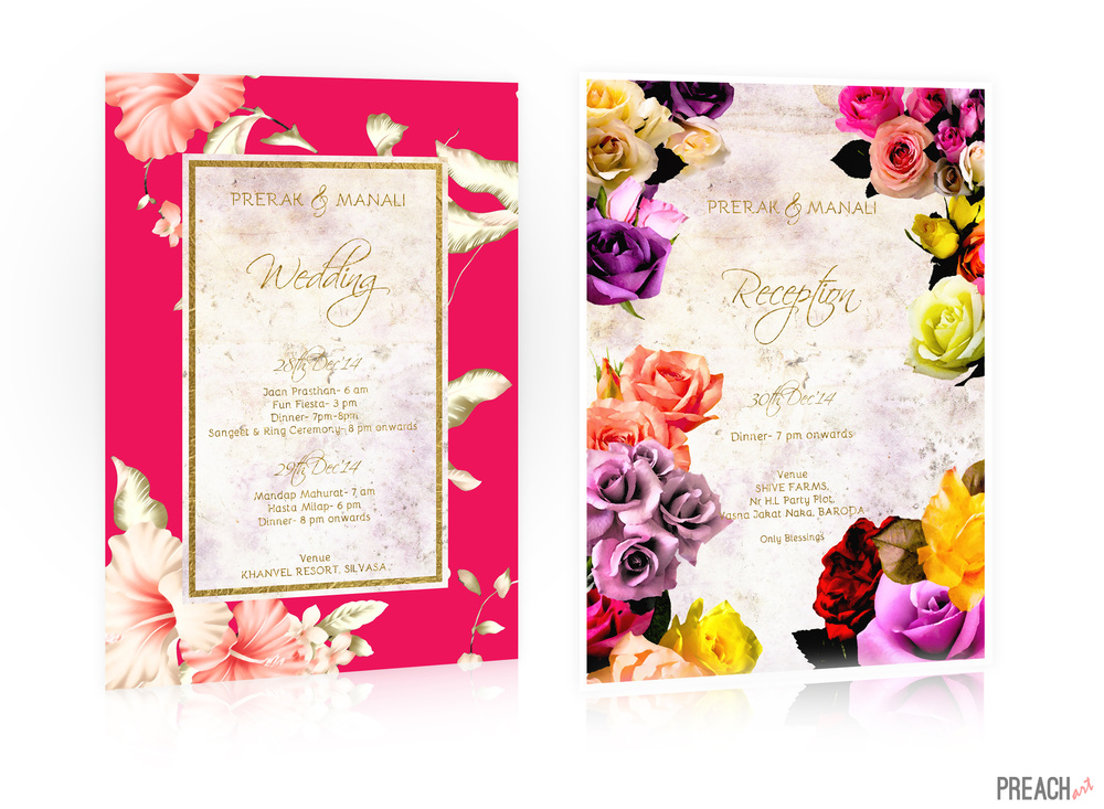 Wedding Invitation Design India - Floral