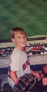 Young Zach taking in a Braves game.