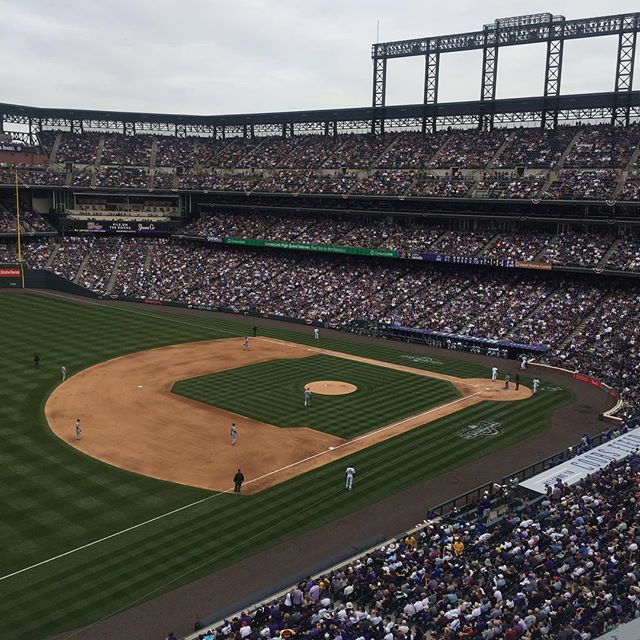 Experiencing fandom at opening day. Full house at #corockies