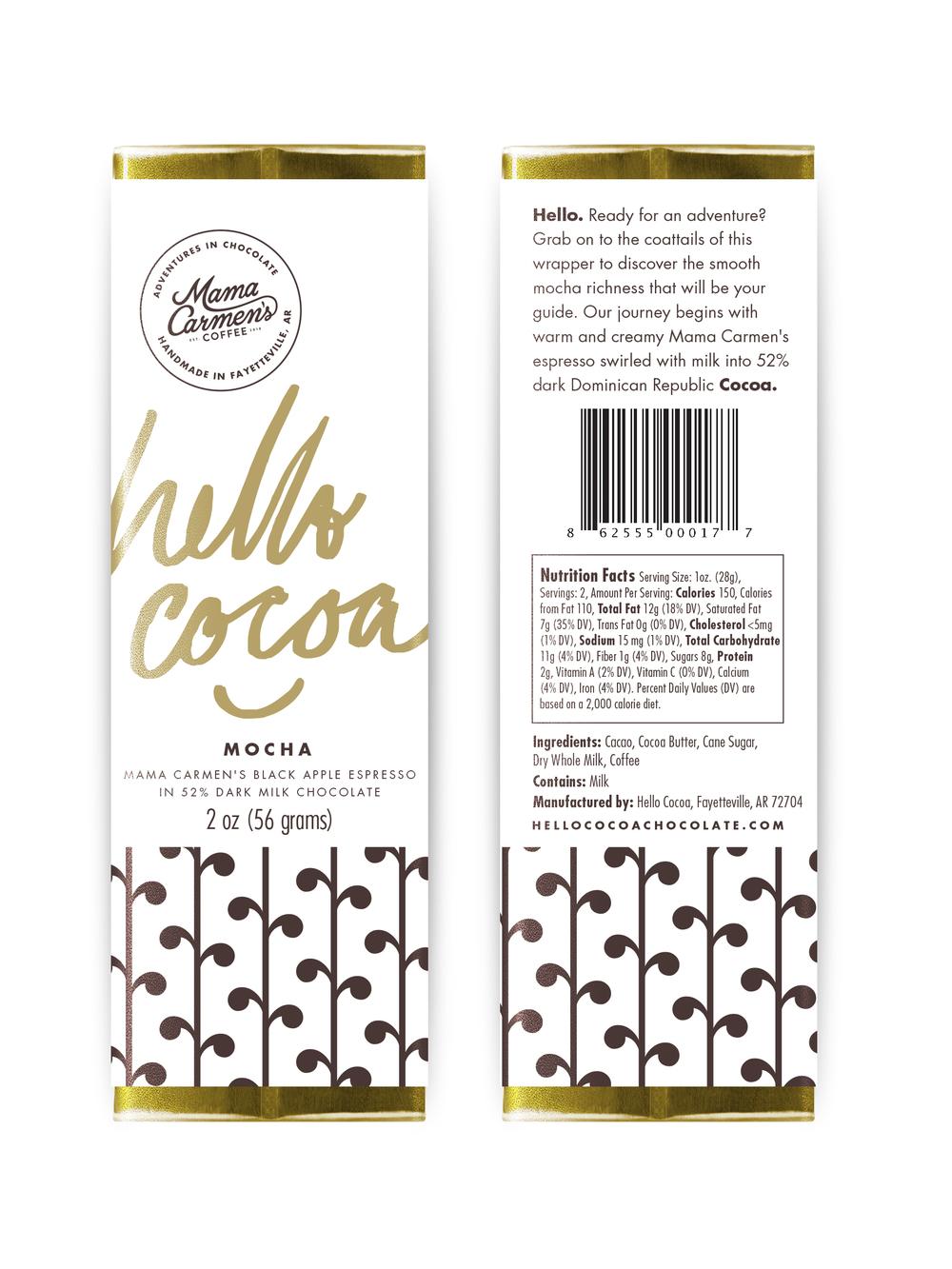 Mocha - dark chocolate with milk and espresso