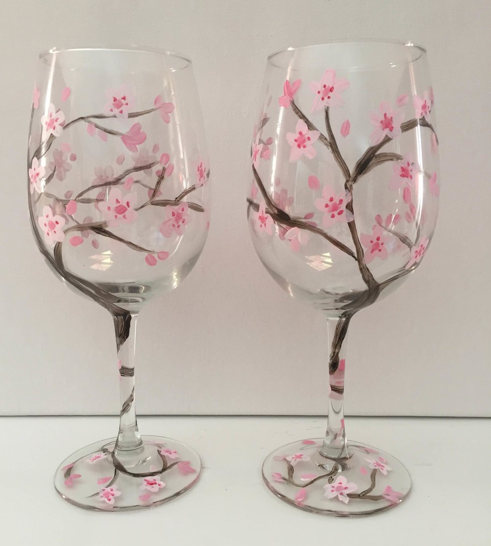 Cherry Blossom Wine Glasses.JPG